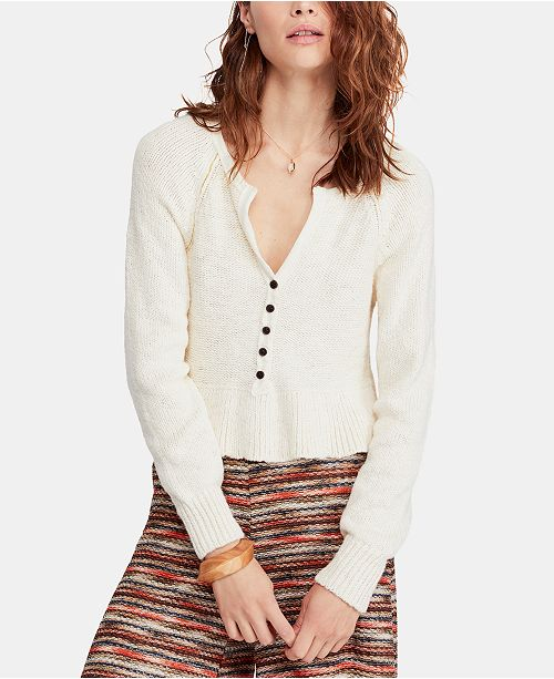 6e2095715691 Free People Sweetheart Cotton V-Neck Sweater   Reviews - Sweaters ...