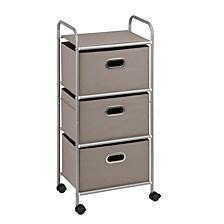 3-Drawer Rolling Cart