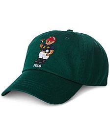 Polo Ralph Lauren Men's Polo Bear Cotton Baseball Cap, Created for Macy's