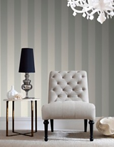 Graham & Brown Water Silk Stripe Wallpaper