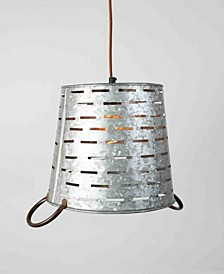 Perforated Metal Bucket Pendant Light