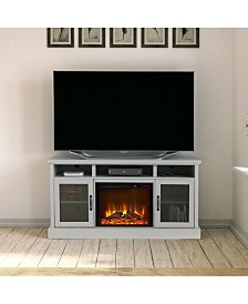 Ameriwood Home Montbello Tv Stand With Fireplace For Tvs Up To 65 Inches