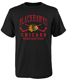 Outerstuff Chicago Blackhawks Fundamentals T-Shirt, Big Boys (8-20)