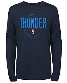 Nike Oklahoma City Thunder Long Sleeve Practice T-Shirt, Big Boys (8-20)