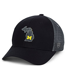 Top of the World Michigan Wolverines Back the School Flag Trucker Cap