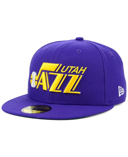 New Era Utah Jazz Hardwood Classic Nights 59FIFTY Fitted Cap ... 2756c9032ba