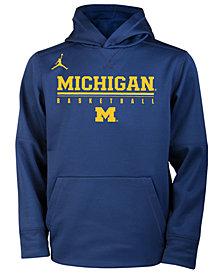 Nike Michigan Wolverines Therma Hooded Sweatshirt, Big Boys (8-20)