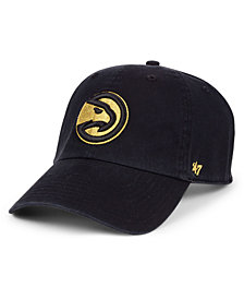 '47 Brand Atlanta Hawks Met Gold CLEAN UP Cap