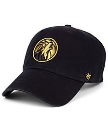 Minnesota Timberwolves Met Gold CLEAN UP Cap