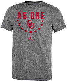 Jordan Oklahoma Sooners Basketball Legend Logo T-Shirt 2018, Big Boys (8-20)