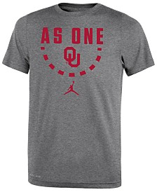Jordan Oklahoma Sooners Basketball Legend Logo T-Shirt 2018, Big Boys (8-20)
