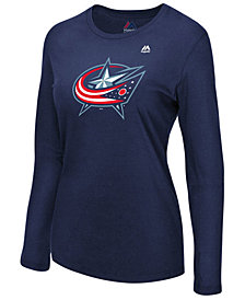 Majestic Women's Columbus Blue Jackets Primary Logo Long Sleeve T-Shirt