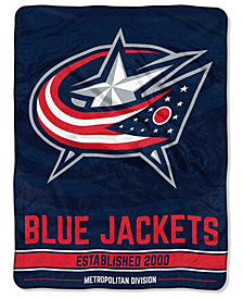 Northwest Company Columbus Blue Jackets Micro Raschel Break Away Blanket