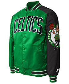 G-III Sports Men's Boston Celtics Starter Dugout Playoffs Satin Jacket