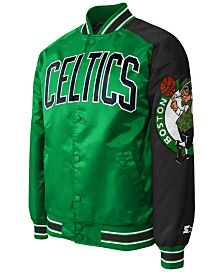G-III Sports Men's Boston Celtics Starter Dugout Playoffs Satin Jacket