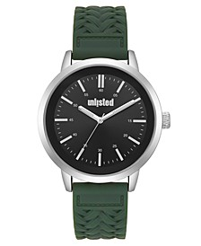 Men's Green Silicone Sport Watch, 44MM
