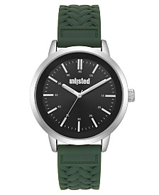 Unlisted Men's Green Silicone Sport Watch, 44MM