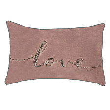 "Edie@Home Celebrations Pillow Beaded ""Love"""