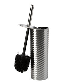 Bath Bliss Swirled Texture Toilet Brush & Holder