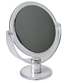 """Kennedy International Dual Sided 10X Magnification 7"""" Rubberized Vanity Mirror"""
