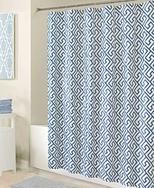 Shower Curtain in Blue Key Design