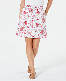 Karen Scott Floral-Print Skort, Created for Macy's