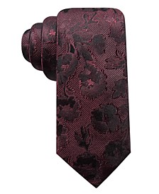 Men's Bradford Slim Floral Silk Tie, Created for Macy's