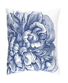Caskata Cotton Canvas Decorative Square Pillow, With Feather and Down Insert