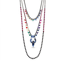 Steve Madden Rainbow 3 Layered Necklace