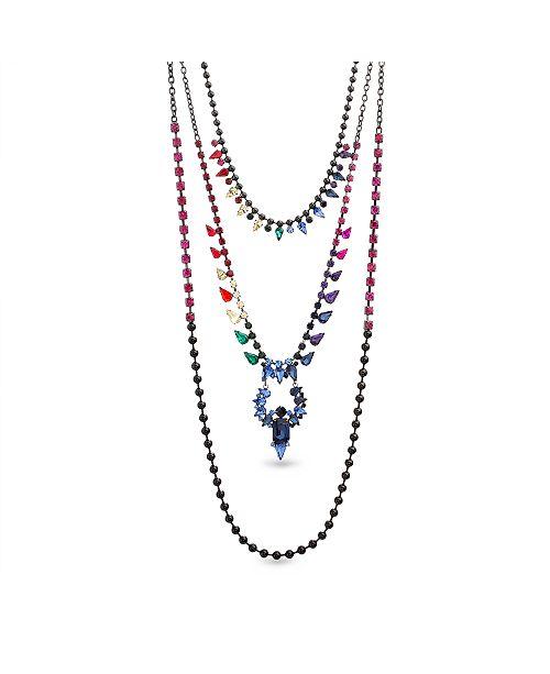 Steve Madden Rainbow 3 Layered Necklace