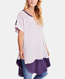 Free People Colorblocked Varsity Tunic