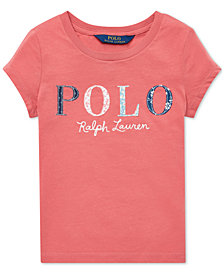 Polo Ralph Lauren Toddler Girls Logo Graphic Cotton T-Shirt