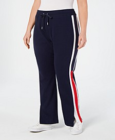 Plus Size Flag-Logo Track Pants