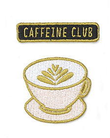 Mara-Mi Embroidered Caffeine Club Patch Set