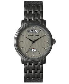 Geoffrey Beene Textured Day Date Dial Bracelet Watch