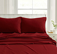 Heavyweight Flannel Solid Extra Deep Pocket King Sheet Set