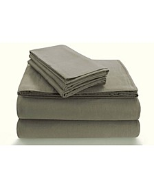 Flannel Extra Deep Pocket Queen Sheet Set