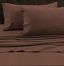 Tribeca Living 170-GSM Heavyweight Solid Flannel Queen Flat Sheet