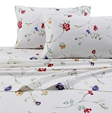 Flannel Floral Garden 170-GSM Cotton Extra Deep Pocket Printed Twin Sheet Set