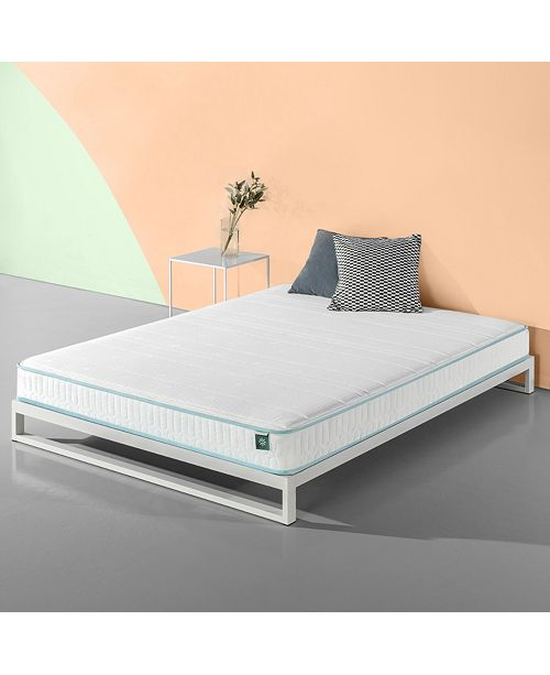 Zinus Mint Green 6 Inch Hybrid Spring Mattress / Firm Support Delivered in a Box, Twin