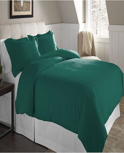 Pointehaven Superior Weight Cotton Flannel Duvet Set - King/Cal King
