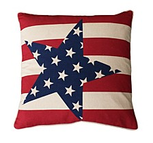 """andrew Stars and Stripes Pillow, 20"""" x 20"""""""
