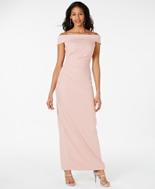 Vince Camuto Jersey Off-The-Shoulder Gown
