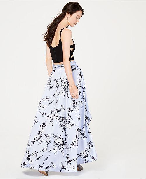 Speechlesscree a pour lilasnoir et femme 2 pour robes a Juniors carree T solide les pièces fleurs shirt robes jupe 34RjL5Aq