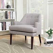 Dean Mid Century Accent Arm Chair, Quick Ship