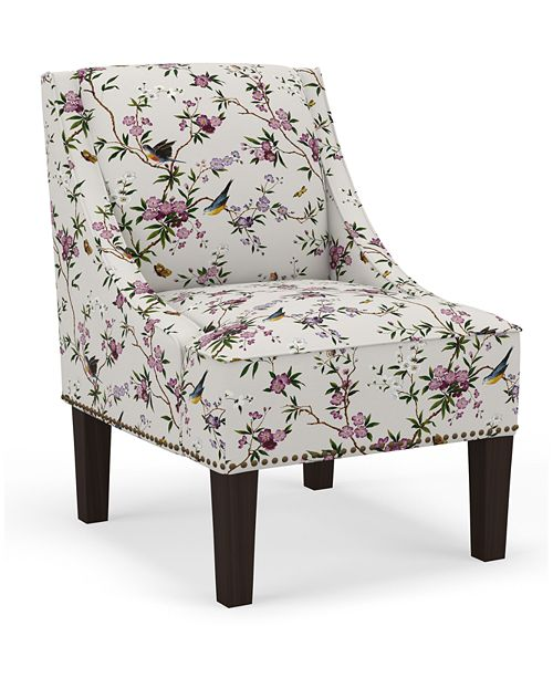 Martha Stewart Collection Skylands Collection Anastasia Arm Chair, Quick Ship, Created for Macy's