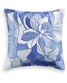 "Charter Club Damask Designs Sketch Floral 16"" x 16"" Decorative Pillow, Created for Macy's"