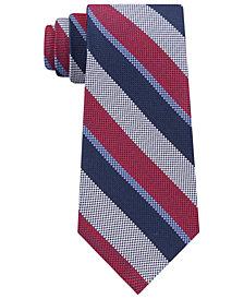 Tommy Hilfiger Men's Classic Oxford Stripe Silk Tie