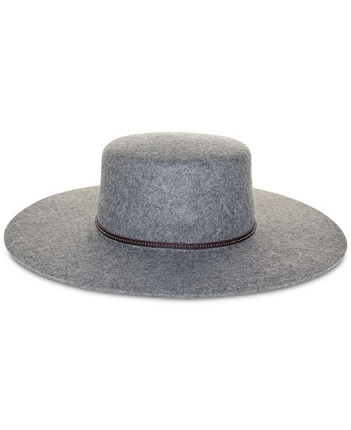 Frye Santa Fe Wool Felt Boater Hat - Handbags   Accessories - Macy s c33c0e3100c6