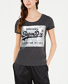 Superdry Sequined Logo T-Shirt